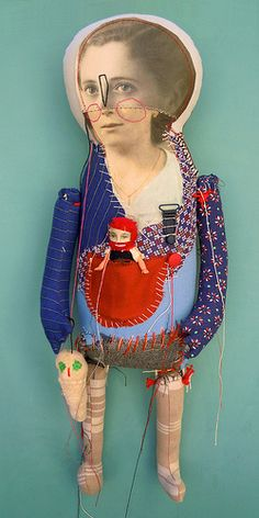 Cecile Perra II-the art room plant ( hand made doll / textile art / fabric / stich )