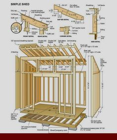 Shed Ideas - Shed Plans - Free Simple Shed Plans - Free step by step shed plans - Now You Can Build ANY Shed In A Weekend Even If Youve Zero Woodworking Experience! Now You Can Build ANY Shed In A Weekend Even If You've Zero Woodworking Experience! Shed Design Plans, Wood Shed Plans, Free Shed Plans, Shed Building Plans, Storage Shed Plans, Building Ideas, Building Permit, Shed Plans 8x10, Lean To Shed Plans