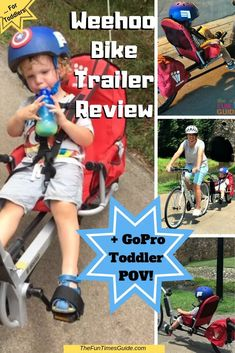 A Weehoo bike trailer gives your child an open-air experience while cycling. Here's my review of the Weehoo Turbo bike trailer, features we like best, how to install it on your bike, and how to find the best deal on a used Weehoo trailer. #biketrailer #bicycletrailer #biketravel #kidsbike #bikingwithkids #cycling #bicycling #funtimesguide