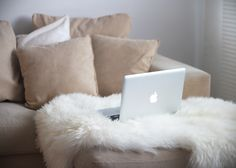 laptop and sofa