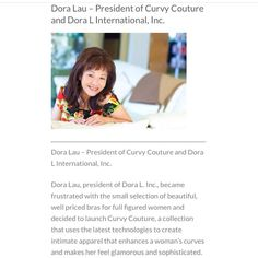 One day early of #WomenCrushWednesday but... can we just give it up to the strong female powerhouse that designs for #EveryKindofCurvy for almost 30 years!? (We promise you'll fall in love with her) read more on WHO we are + our GOALS for you, curvy girl! ✨ #DoraLau www.curvycouture.com/about-us/ #StayInspired #WomeninBusiness #RaiseTheBar