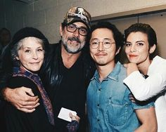 Melissa McBride, Jeffery Dean Morgan, Steven Yeun and Lauren Cohan