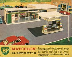 Matchbox Collector's Catalogue, 1968, by Wishbook, via Flickr.  I had this BP Service Station.