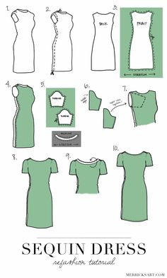 Merrick's Art // Style + Sewing for the Everyday Girl: SEQUIN DRESS REFASHION + TUTORIAL