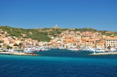 The town and Port of La Maddalena Sardinia My house way up on top of that mountain.