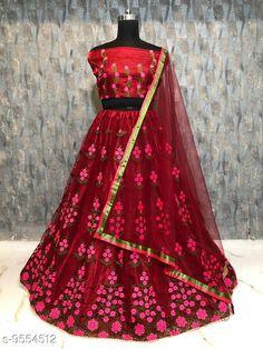 Lehengas Women's Lehenga Choli Topwear Fabric: Silk Bottomwear Fabric: Net Dupatta Fabric: Net Set type: Choli And Dupatta Top Print or Pattern Type: Embroidered Bottom Print or Pattern Type: Embroidered Dupatta Print or Pattern Type: Solid Sizes:  Semi Stitched (Lehenga Waist Size: 44 in Lehenga Length Size: 42 in Duppatta Length Size: 2.4 m) Country of Origin: India Sizes Available: Un Stitched, Free Size, Semi Stitched   Catalog Rating: ★4.3 (487)  Catalog Name: Free Mask Charvi Attractive Women Lehenga CatalogID_1685354 C74-SC1005 Code: 317-9554512-5481