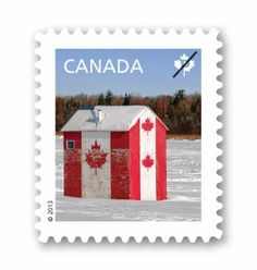 Flag design on hut Canadian Things, I Am Canadian, Cool Countries, Countries Of The World, Fishing Shack, Ice Fishing, Canada Eh, Canada Post, My Land