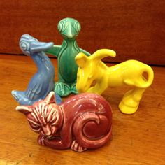 Animal Figurines by Homer Laughlin, released with the Harlequin patterns.