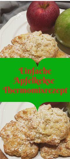 Hier findest du ein einfaches Rezept fur Apfelkekse aus dem Thermomix. Für alle die keinen Thermomix haben, gibt es auch eine Variante ohne Thermomix. Backen im Herbst. Kinderleicht und schnell.