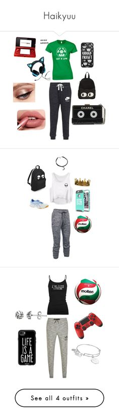 """""""Haikyuu"""" by gamerskitchenofficial on Polyvore featuring Casetify, Nintendo, Brookstone, cute, gamer, kenma, Under Armour, Seletti, Asics and sport"""