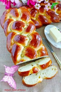 Sweet Braided Easter Bread: This holiday bread comes packed with raisins to make it extra sweet. Click through to discover more easy and unique Easter dinner ideas that all families will love.