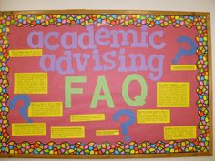 Academic Advising Bulletin Board