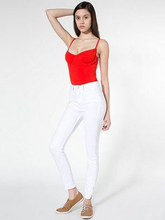American Apparel - Stretch Bull Denim Side Zip Pant