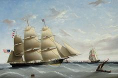John Tudgay Biography and Maritime Paintings and Art - Clipper EMPRESS OF THE SEAS Off England, 1854 - Portrait of the Donald McKay Built Clipper Ship - Vallejo Maritime Gallery, 18th century marine art, 19th century marine antiques, 19th century marine art, 20th century marine art, Marine art, Maritime paintings.