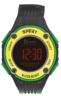 LED Digital Watch with Calendar, 30m Water Resistance Yellow. Item No. : 55566  Price : $4.99  Category : Sport Watches
