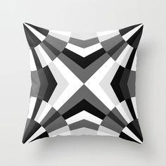Deco Diamonds Throw Pillow by Bitart - Cover x with pillow insert - Indoor Pillow Tribal Bedding, Black And White Pillows, Geometric Cushions, Art Deco, Scandinavian Bedroom, Bohemian Decor, Pillow Design, Decorative Pillows, Designer
