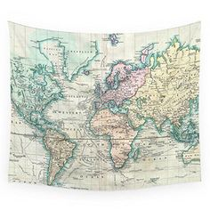 Vintage map of the world 1801 gift tags vintage maps gift and if you have kids i suggest this cool looking map hanging wall tapestry this would gumiabroncs