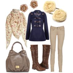 A fashion look from September 2011 featuring hooded coats, brown shoes and leather purse. Browse and shop related looks.