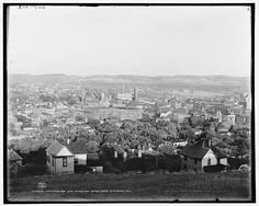 1902 Chattanooga and Missionary Ridge from Cameron Hill; William Henry 1843-1942, photographer; Detroit Publishing Co. , copyright claimant – Digital files of Library of Congress