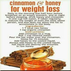 #Cinnamon & #Honey for #Weight loss