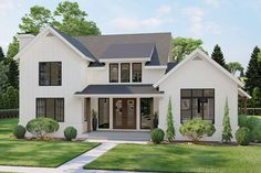 Modern Farmhouse Plan: 3,164 Square Feet, 4 Bedrooms, 2.5 Bathrooms - 963-00504