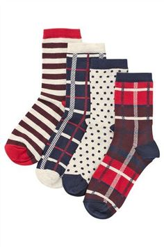 Tartan Socks Four Pack
