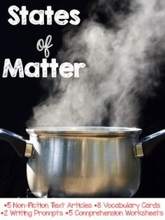 States of Matter is a non-fiction text resource packet. Grades 1-2