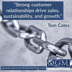 "quantumgrowthmarketing.com Quantum Growth Marketing #businessadvice #sales #marketing #business #businessgrowth #networking #marketingstrategy #networkingtraining #networkingevents #quantumgrowthmarketing #incrediblenetworking #williamjamesdutton #businesscoach #marketingconsultant ""Strong customer relationships drive sales, sustainability, and growth."" – Tom Cates Social Media Marketing Business, Marketing Plan, Seo Strategy, Search Engine Marketing, Marketing Consultant, Business Advice, Sustainability, Relationships, Strong"