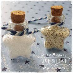 Star Shaped Mini Glass Wish Bottle
