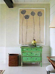 Green dresser