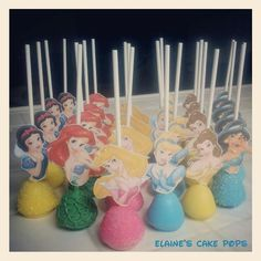 Disney Princess Cake pop tutorial with free princess printables!