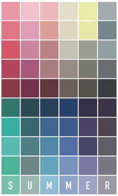 Soft Summer Color Palette, Colour Pallete, Summer Colors, Summer Color Palettes, Colors For Skin Tone, Soft Colors, Seasonal Color Analysis, Color Me Beautiful, Colour Board