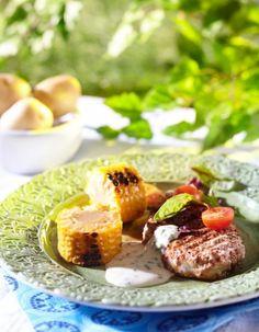 Porsaan ulkofileepihvit ja valkosipulikastike | Pirkka