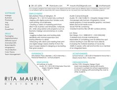 Horizontal resume (Rita's graphic design Resume)