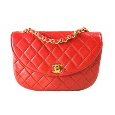 1stdibs - Chanel Quilted Red Leather Handbag explore it