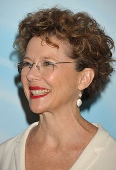 short hair curly hairstyles for women over 50 with glasses pics