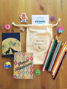 Awesome Gift Set - 2 Notebooks 12 Pencils 1 Eraser 1 Sharpener great gift gifts for friends gifts for teachers gifts under 25 USD) Cool Gifts, Best Gifts, Diy Gifts, Homemade Gifts, Unique Gifts, Glass Case Of Emotion, All You Need Is Love, Just For You, Robot Sketch