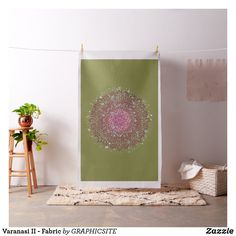 Shop Varanasi II - Fabric created by GRAPHICSITE. Sewing Projects, Craft Projects, Varanasi, Pigment Ink, Mandala Design, Custom Fabric, Crafts To Make, Printing On Fabric, Tapestry