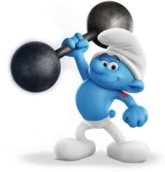 Hefty Smurf (original French name Schtroumpf Costaud) is one of the main characters of the Smurfs comic books and the Smurfs cartoon show, who has appeared on the show throughout its entire run. He is considered the strongest and bravest Smurf of them all who's willing to use his strength to help out his fellow Smurfs. He is easily identified by the heart-with-arrow tattoo on his right upper arm.