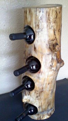 17 Simple and Magnificent Ways to Beautify Your Household Through Wood DIY Proje. 17 Simple and Magnificent Ways to Beautify Your Household Through Wood DIY Projects wooden stump carying wine bottle Diy Wood Projects, Home Projects, Woodworking Plans, Woodworking Projects, Woodworking Furniture, Woodworking Jointer, Woodworking Machinery, Woodworking Supplies, Woodworking Techniques