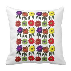 Mexican Floral Pillow Home Decor Throw Pillow - floral style flower flowers stylish diy personalize