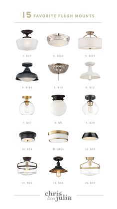 Beginner DIY: How To Change A Light Fixture + 15 Favorite Flush Mounts