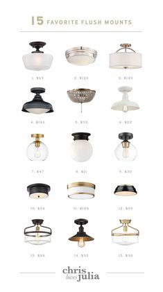 Beginner DIY: How To Change A Light Fixture + 15 Favorite Flush Mounts