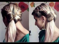 Penteado super fácil ! Lindo para qualquer ocasião Por Pamella Rocha- Easy hairdo for any occasion - YouTube