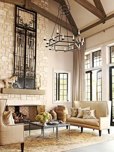 Fireplace Designs and Decorating Ideas Living Large | http://www.bhg.com/decorating/fireplace/styles/fireplace-designs/#page=30