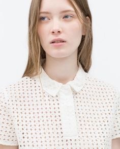 ZARA - WOMAN - CUT WORK TOP