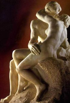 """One of Auguste Rodin's most famous sculptures, """"The Kiss"""" portrays the 13th-century Italian aristocrat Francesca da Rimini, who fell in love with her husband's younger brother, Paolo; according to the tale in Dante's Inferno, when their romance was uncovered, her husband killed them."""