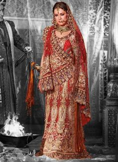 Red Lengha for a reception