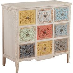 Powell Erin White and Colored Chest - 16997188 - Overstock.com Shopping - Great Deals on Powell Dressers