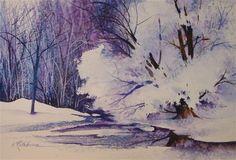 """Majestic Snows"" - Original Fine Art for Sale - © Kathy Los-Rathburn"